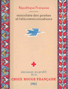 Frankrig - Røde Kors hæfte postfrisk 1961 Y&T 2010