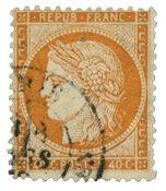France 1870 - YT 38 - Oblitéré