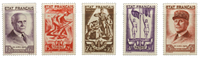Frankrig 1943 - YT 576/80 - Ubrugt