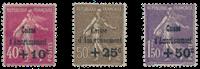 Frankrig 1930 - YT 266-68 - Ubrugt