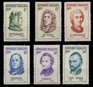 Frankrig 1956 - YT 1082-87 - Postfrisk