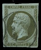 France 1860 - YT 11 - Oblitéré