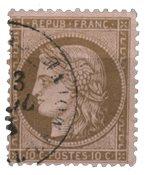 France 1873 - YT 58 - Oblitéré