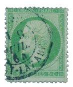 Frankrig 1862 - YT 20 - Stemplet