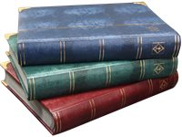 Stockbook - Assorted colors - Size A4 - 64 black pages - padded cover crocodile-look - metal corners