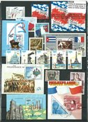 France on foreign stamps - 11 different stamps and  13 souvenir sheets