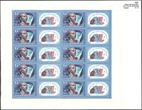 1张版票和15枚邮票 加加林邮票