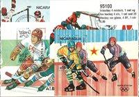 Ishockey 4 miniark, 1 sæt og 20 frimærker
