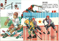 Ice hockey 4 souvenir sheets, 1 set and 20 stamps