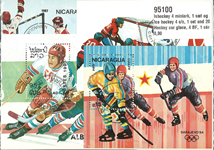 Hockey sur glace, 4 BF, 1 série et 20 timbres