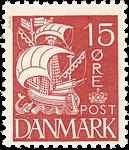 Danmark - Karavel - Prøvemærke rødt
