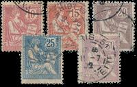 France 1902 - YT 124/128 - Unused