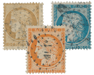 France 1870 - YT 36-38 - Oblitéré