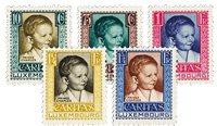 Luxemborg 1930 - Ubrugt - MICHEL 227-31