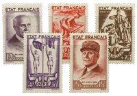 Frankrig 1943 - YT 576/80 - Postfrisk