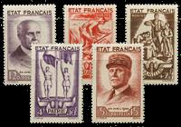 France 1943 - YT 576-80 - Neuf