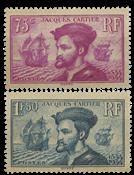 Frankrig 1934 -  YT 296-97 - Ubrugt