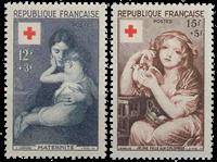 Frankrig 1954 - YT 1006-07 - Ubrugt