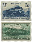 Frankrig 1937 - YT 339/340 - Ubrugt