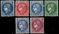 France 1938 - YT 372-76 - Neuf avec charnière