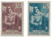 Frankrig 1938 - YT 386/387 - Ubrugt