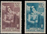 France 1938 - YT 386-87 - Neuf avec charnière