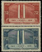 France 1936 - YT 316-17 - Neuf avec charnière