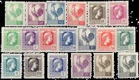 Frankrig 1944 - YT 630/648 - Ubrugt