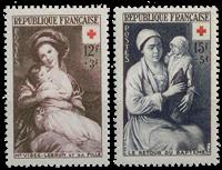 Frankrig 1953 - YT 966/967 - Ubrugt