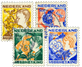 Holland - Kinderzegels 1932 - NVPH 248-251 - Stemp