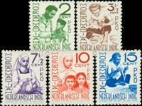 Nederlands Indië 1941 - Nr. 293-97 - Ongebruikt