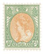 Nederland - 40 ct groen en oranje uit de bontkraagserie (nr. 73, ongebruikt