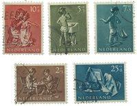 Holland 1954 - NVPH 649-653 - Stemplet