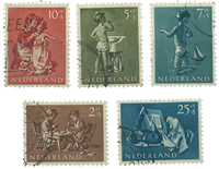 Netherlands 1954 - NVPH 649-653 - Cancelled