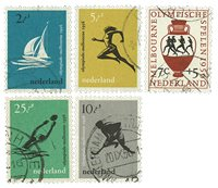 Holland 1956 - NVPH 676-80 - Stemplet