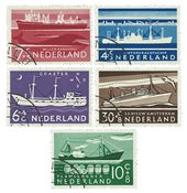 Holland 1957 - NVPH 688-92 - Stemplet