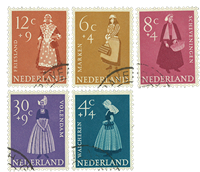 Nederland 1958 - Nr. 707-11 - Gebruikt
