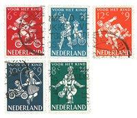 Holland 1958 - NVPH 715-19 - Stemplet