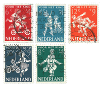Nederland 1958 - Nr. 715-19 - Gebruikt