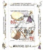 Cypern tyrkisk - Europa 2014 - Stemplet miniark