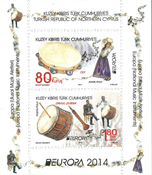 Cyprus Turkish - Europa 2014 - Mint souvenir sheet
