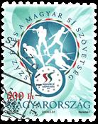 Hongrie - Sport de ski - Timbre oblitéré