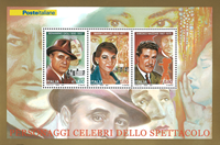 Italy - Personalities - Mint souvenir sheet