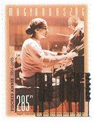Ungarn - Pianisten Annie Fischer - Stemplet frimærke