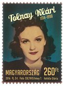 Ungarn - Skuespillerinden Klari Tolnay - Postfrisk frimærke