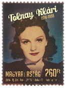 Hungary - Actress Klari Tolnay - Cancelled stamp