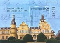 Hungary - Architect Miklos Ybl - Mint souvenir sheet