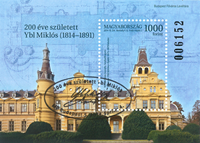 Hungary - Architect Miklos Ybl - Cancelled souvenir sheet