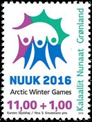 Grønland - Arctic Winter Games - Postfrisk frimærke