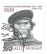 Grønland - Ekspedition X - Stemplet frimærke